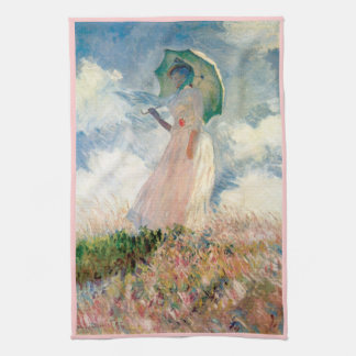 Woman with Parasol Promenade Monet Towels