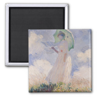 Woman with Parasol turned to the Left, 1886 2 Inch Square Magnet