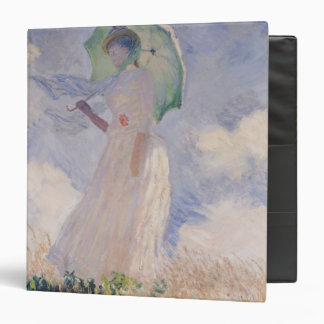 Woman with Parasol turned to the Left, 1886 3 Ring Binder
