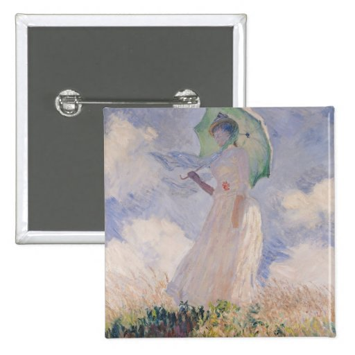 Woman with Parasol turned to the Left, 1886 Pinback Buttons