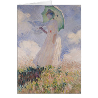 Woman with Parasol turned to the Left, 1886 Card