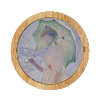 Woman with Parasol turned to the Left, 1886 Cheese Platter