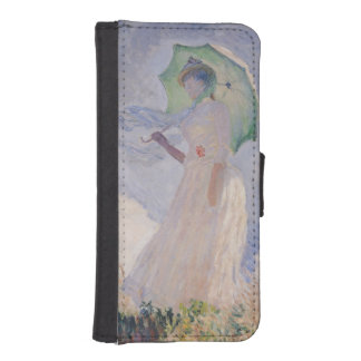 Woman with Parasol turned to the Left, 1886 iPhone SE/5/5s Wallet
