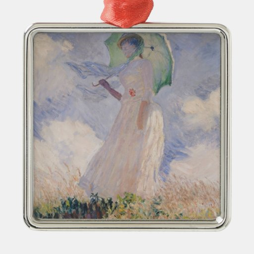 Woman with Parasol turned to the Left, 1886 Christmas Tree Ornaments