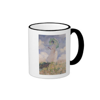 Woman with Parasol turned to the Left, 1886 Ringer Mug