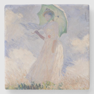 Woman with Parasol turned to the Left, 1886 Stone Coaster