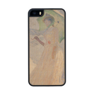 Woman with Parasol turned to the Left, 1886 Wood Phone Case For iPhone SE/5/5s