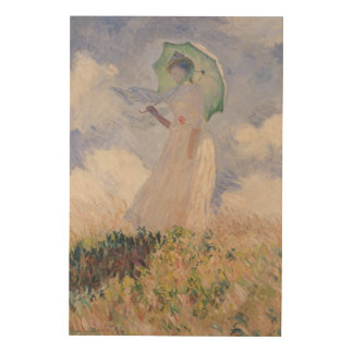 Woman with Parasol turned to the Left, 1886 Wood Print