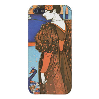 Woman with Peacocks – Louis Rhead Cover For iPhone SE/5/5s