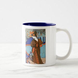 Woman with Peacocks – Louis Rhead Coffee Mugs