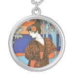 Woman with Peacocks – Louis Rhead Pendant