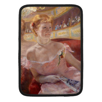 Woman with Pearl Necklace in a Loge - Mary Cassatt MacBook Air Sleeve