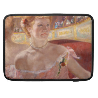 Woman with Pearl Necklace in a Loge - Mary Cassatt MacBook Pro Sleeves