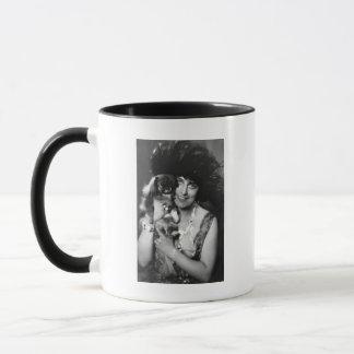 Woman with Pekingese, 1920s Mug
