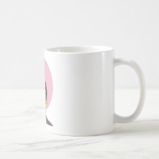 Woman With Pink Afro and Green Eyes Abstract Art Classic White Coffee Mug