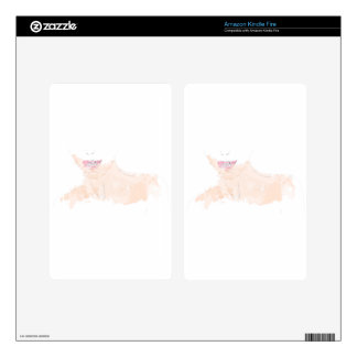 Woman with pink lips kindle fire skins