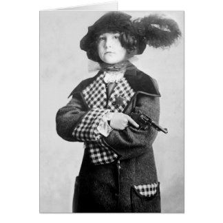 Woman with Pistol, 1910 Card