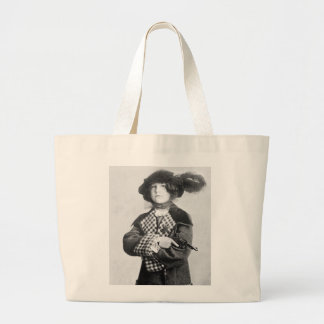 Woman with Pistol, 1910 Large Tote Bag