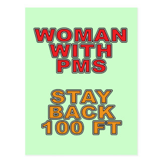 Woman With PMS Postcard