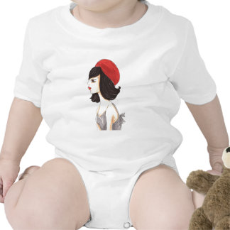 Woman with Red Barret T Shirts