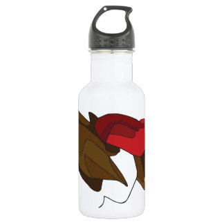 Woman with Red Hat Water Bottle