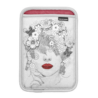 Woman with Red Lips Sleeve For iPad Mini