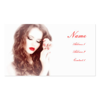 Woman with Red Lipstick Business Card
