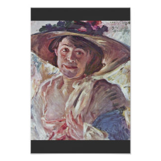 Woman With Rosenhut (Portrait Of Charlotte Berend- Poster