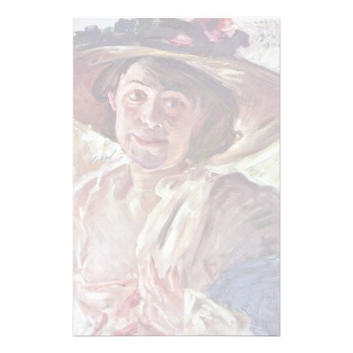 Woman With Rosenhut (Portrait Of Charlotte Berend- Personalized Stationery