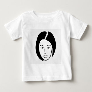 Woman with short hair baby T-Shirt
