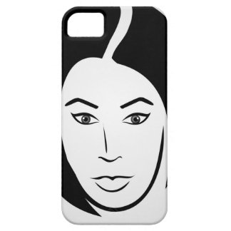 Woman with short hair iPhone SE/5/5s case