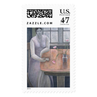 Woman with Small Cup 2007 Postage