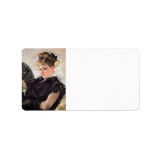 Woman with subjects (head of a girl) by Morisot Personalized Address Labels