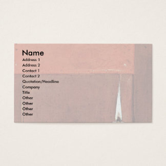 Woman With The Flea Details: Candle Business Card