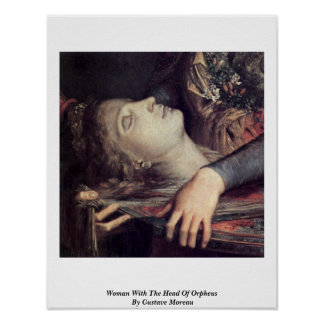 Woman With The Head Of Orpheus By Gustave Moreau Poster
