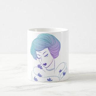 Woman with the lotuses coffee mug