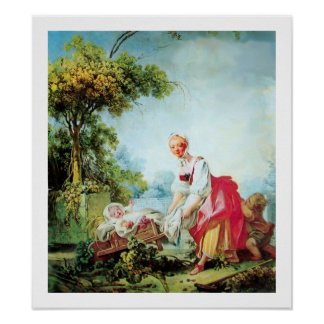 WOMAN WITH TWO CHILDREN POSTER
