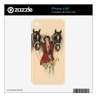 Woman with Two Horses iPhone 4 Skin