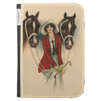 Woman with Two Horses Kindle case
