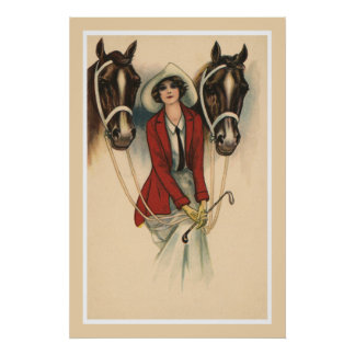 Woman with Two Horses poster