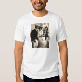 Woman with two suitors t shirt