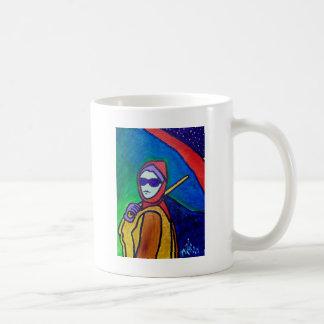 Woman with Umbrella by Piliero Coffee Mug