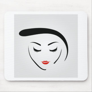 woman with vintage hairstyle and make up mouse pad