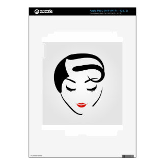 woman with vintage hairstyle and make up skin for iPad 3
