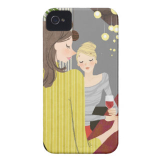 Woman with Wine iPhone 4 Cover