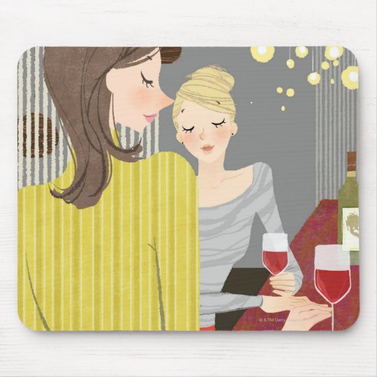 Woman with Wine Mouse Pad