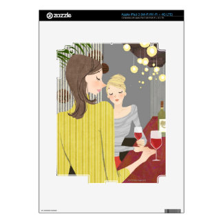 Woman with Wine Decal For iPad 3