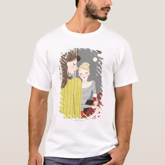 Woman with Wine T-Shirt