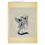 Woman with wings-religious figure greeting card
