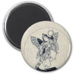 Woman with wings-religious figure refrigerator magnets